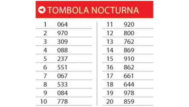 TOMBOLA NOCTURNA