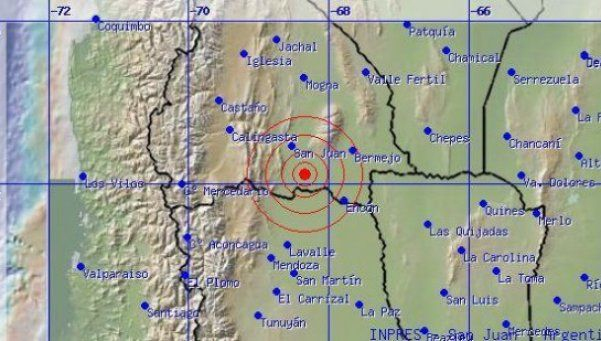Sismo en Mendoza, con epicentro en San Juan