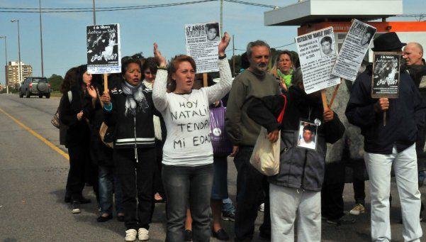 Manifestación en Miramar por el caso Natalia Melmann