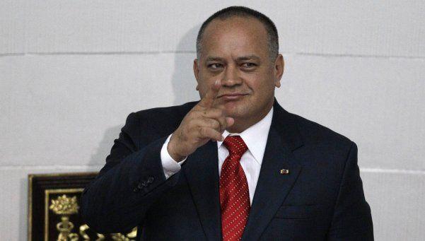 """El número dos de Venezuela tildó de """"cobarde"""" a Macri"""