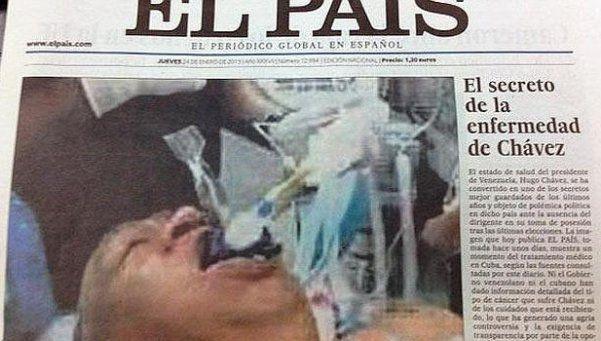 La historia de la falsa foto de Chávez que publicó El País