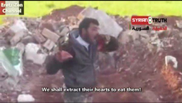 Video: rebelde sirio le arrancó el corazón a soldado y se lo comió