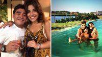 Maradona festejó la Navidad con Gianinna