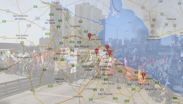El mapa de cortes de un día complicado
