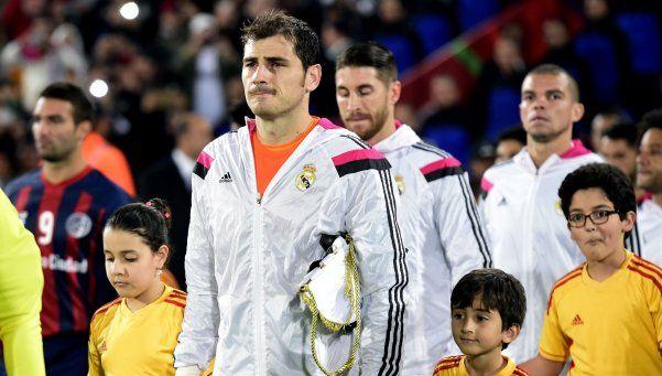 Así fue la salida de San Lorenzo y Real Madrid a la cancha