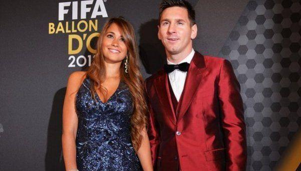 Lio Messi y Antonella, en la TV argentina