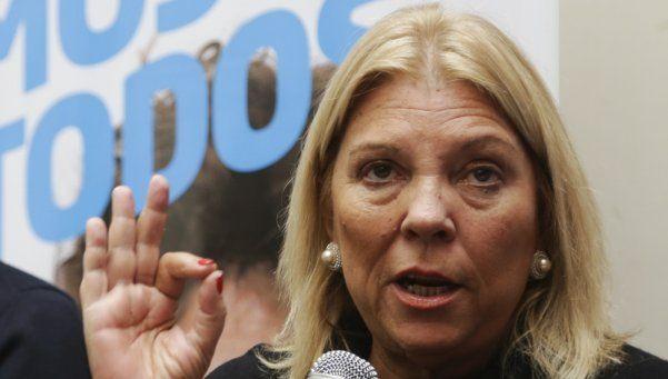 Para Carrió, la entrevista a Lanatta tuvo la autorización de Scioli y Casal