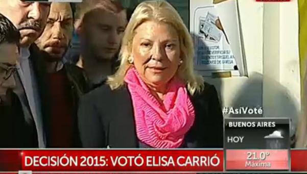 """Carrió: """"Cristina fue parte de una asociación ilícita"""""""