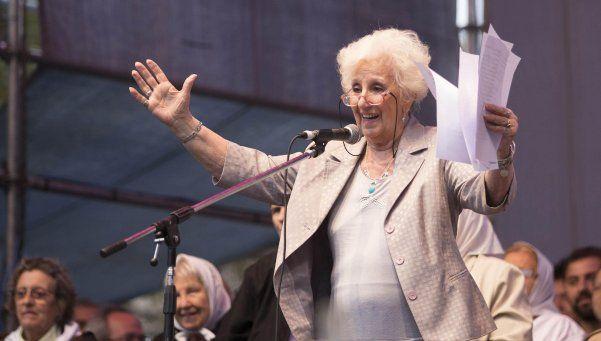 Estela de Carlotto: Me preocupa que gane Macri