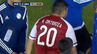 Sufre San Lorenzo: Más cruzó a Ortigoza y lo sacó de la cancha