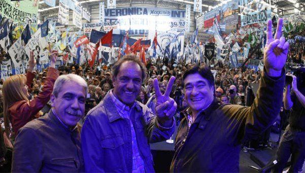 Scioli, Zannini y Fernández festejaron el Día de la Lealtad
