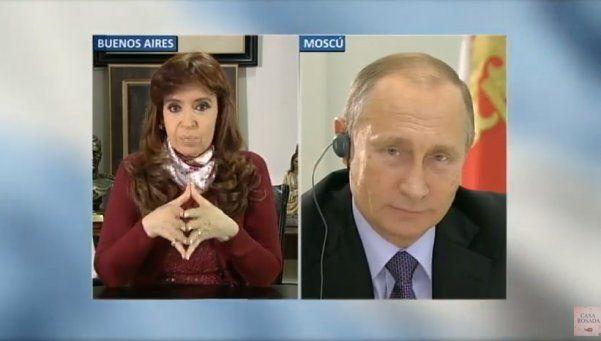 La videoconferencia de Cristina con Putin