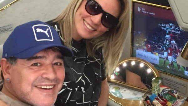 Rocío viajó a Dubai y traerá a Diego para su cumple