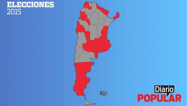 Elecciones 2015   Las 11 provincias que eligen gobernador y sus candidatos