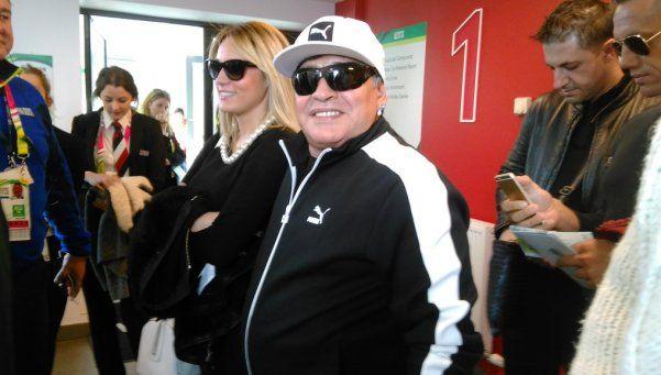 Maradona, presente en el duelo entre Los Pumas y los Wallabies