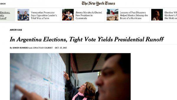 Elección ajustada y Macri favorito, en los medios del mundo