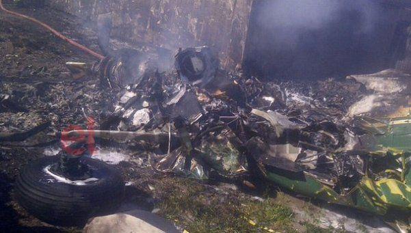Cayó una avioneta de Gendarmería en Santa Cruz: dos muertos