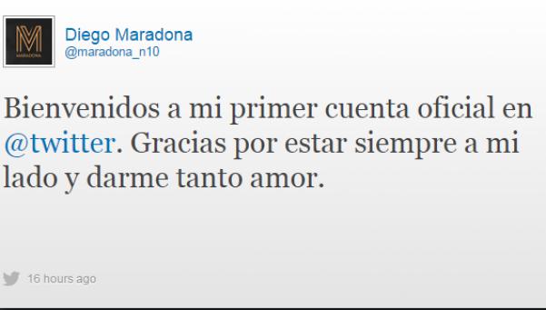 A Maradona le crearon una cuenta de Twitter trucha