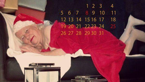 Calendario hot: ancianas juegan a ser modelos y son furor