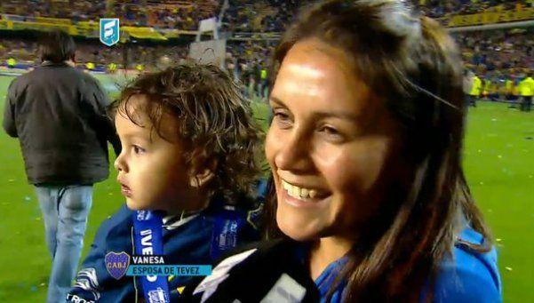 La felicidad de Vanesa, la esposa de Carlitos Tevez
