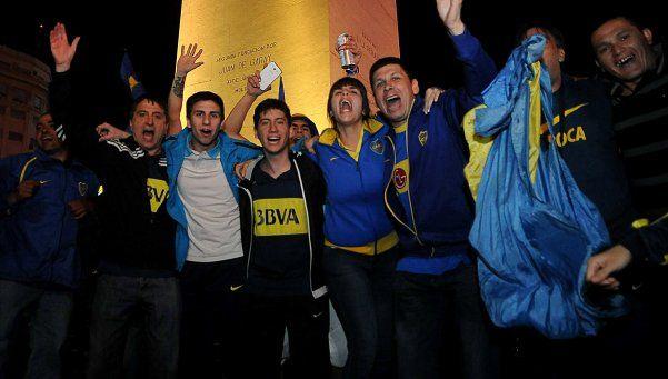 Video | Miles de hinchas de Boca llevaron la fiesta al Obelisco