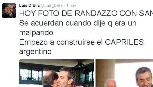 """D'Elía llamó """"Judas"""" y """"malparido"""" a Randazzo"""