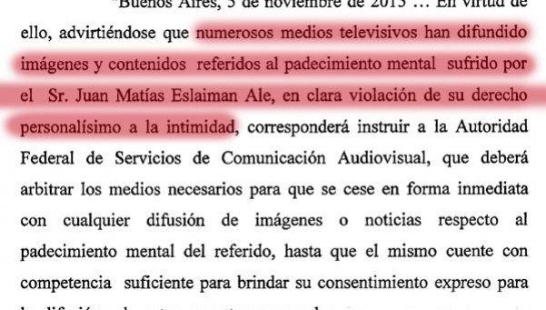 Medida judicial impide a los medios hablar sobre Matías Alé