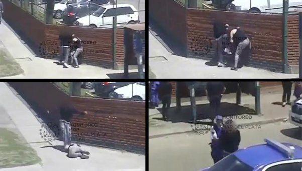 Video | Golpeó a su pareja en plena calle y se lo llevó la Policía