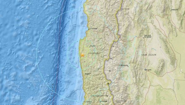 Sismo de 6,8 grados sacudió al centro de Chile y se sintió en Argentina