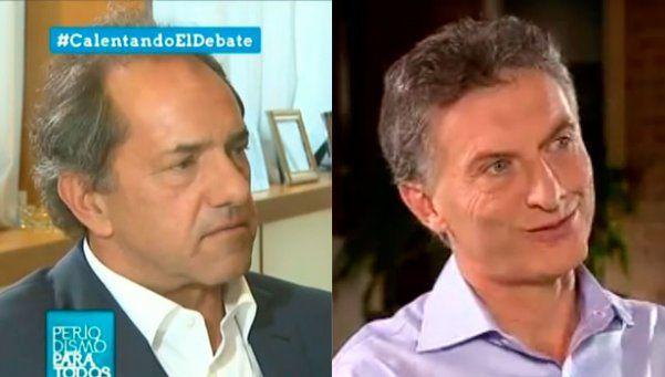 Scioli y Macri, protagonistas de la noche televisiva