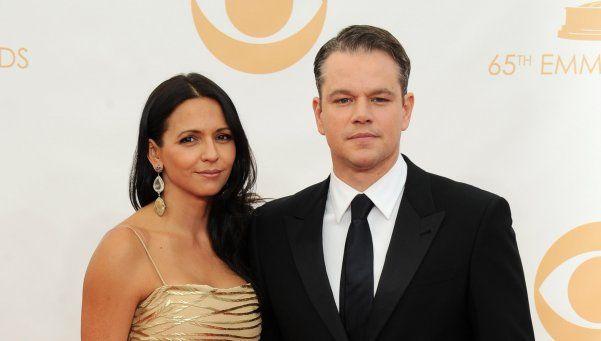 Matt Damon se separa de su esposa argentina