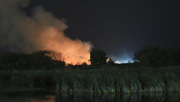 Un incendio afecta a la Reserva Ecológica porteña