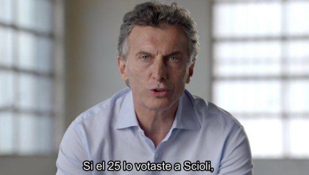 Mauricio Macri y un spot dedicado a los votantes de Scioli