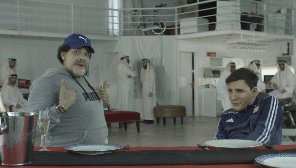 Video   Diego le enseña a Messi a cantar el himno nacional