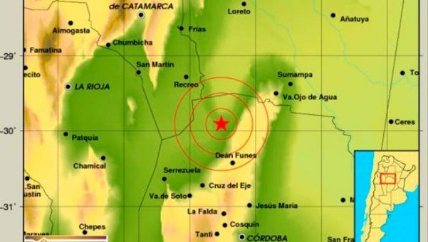 Córdoba: se registró un sismo de 5.8 grados