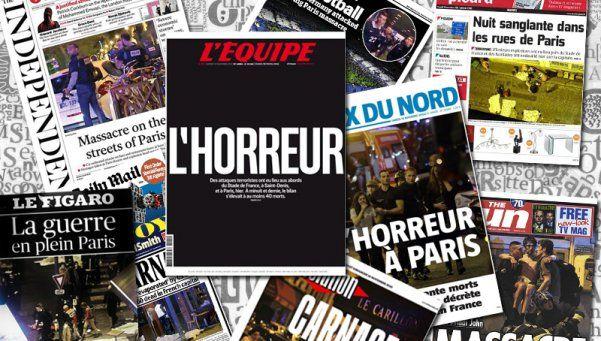 El atentado de París, portada de los principales diarios del mundo