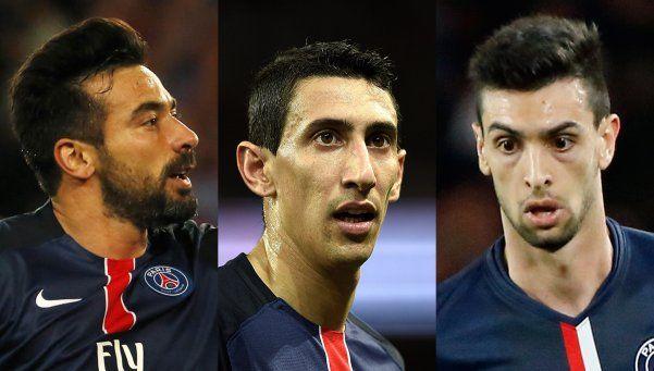 París: Lavezzi, Di María y Pastore, los más afectados de la Selección