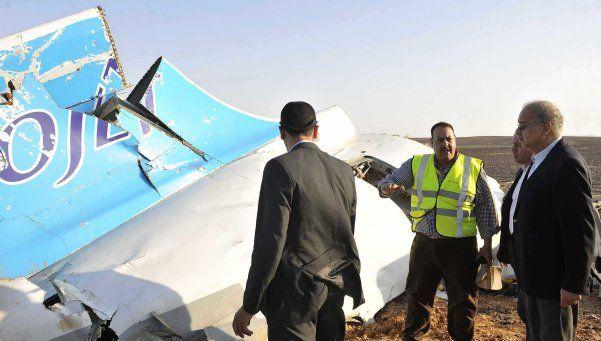 Rusia confirmó que el avión caído en Egipto sufrió un atentado