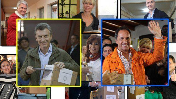 Cómo le fue a Macri y Scioli en las mesas donde votaron los referentes