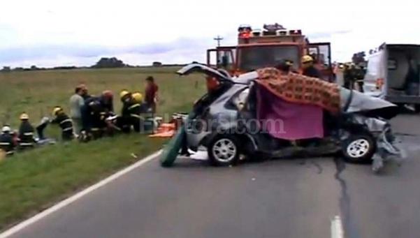 Choque trágico en la ruta 7 deja un saldo de seis muertos