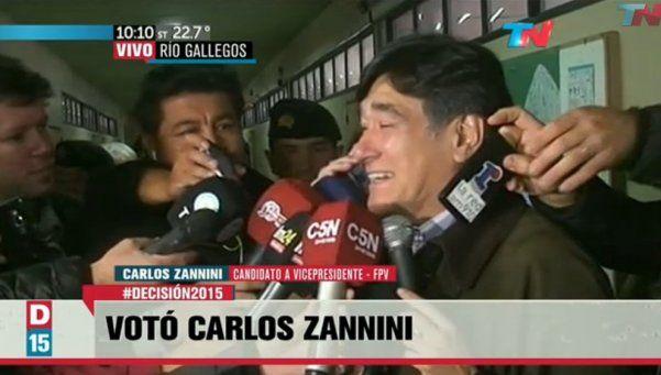 "Votó Zannini: ""La gente va a querer seguir avanzando"""