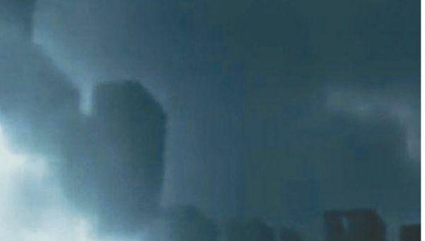 Una ciudad fantasma sobrevuela el cielo chino