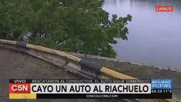 Otro auto cayó al Riachuelo: el tercero en 5 meses