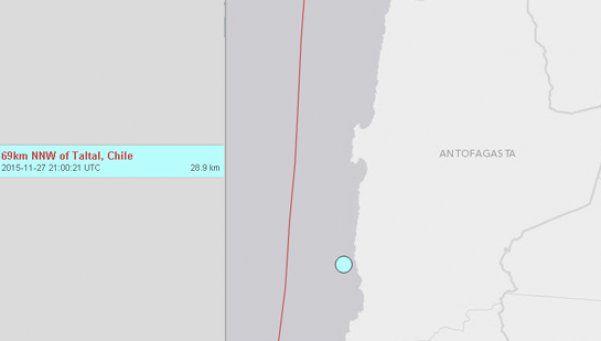 Sismo de 6.2 Ritcher azota al norte chileno
