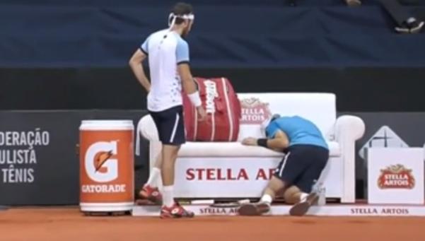 Tenista argentino se rompió el aductor y se desvaneció
