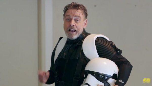 Mark Hamill se prepara para el estreno de Star Wars