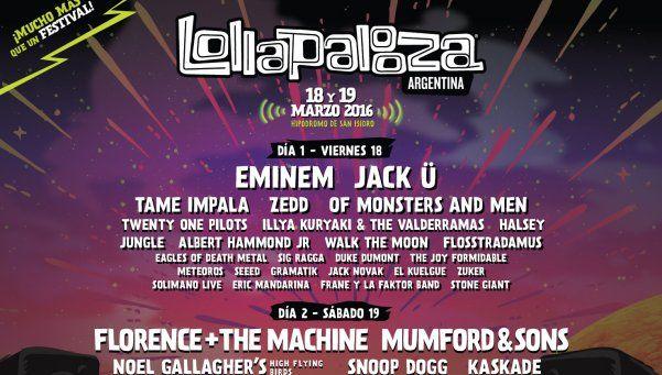 Lollapalooza y el line up de su tercera edición