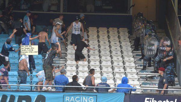 Barras de Racing agredieron a dirigentes de Independiente
