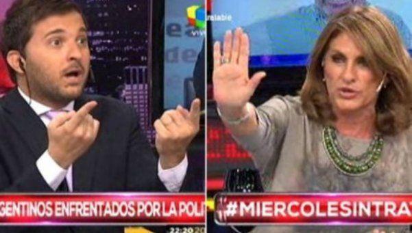 Tremendo cruce entre Brancatelli y Silvia Fernández Barrio