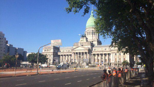 Corte de calles en el microcentro por la asunción de Macri